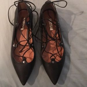 Halogen Women's Black Lace up Shoes Size 8.5